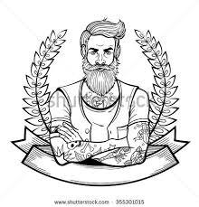 vector color santa man illustration stock vector 328130240