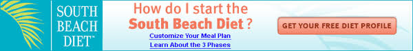 all three phases of south beach diet and foods that are allowed