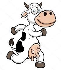 unique running cow cartoon photos