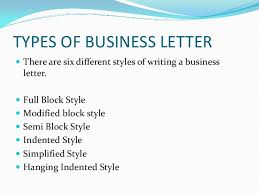 Semi Block Letter Format Business Letter Business Letters And Different Styles