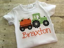 pumpkin tractor shirt boys fall shirt tractor pumpkin