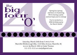 40th birthday invitation wording marialonghi com