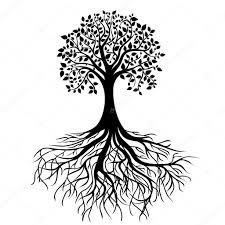 tree with roots stock vector nikitinaolga 12069030