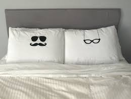 his and hers pillow cases his and hers pillows cool pillow cases glasses unique pillow