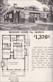 craftsman bungalow floor plans craftsman bungalow sears modern home no 264b234