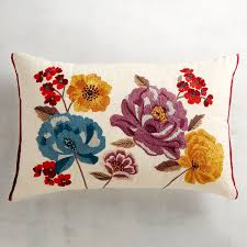 Peacock Pillow Pier One by Beaded U0026 Embroidered Floral Lumbar Pillow Pillows Beads And Floral