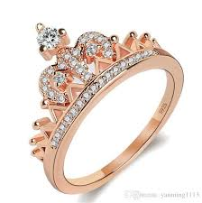 cute engagements rings images Fashion hot style queen crown ring 925 sterling silver zircon jpg