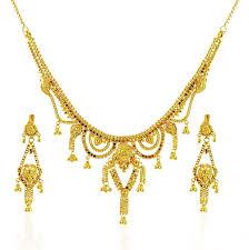 new necklace set images 22k gold short gold necklace set designs jpg