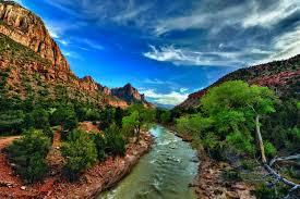 Utah scenery images Photo zion national park usa utah hdr nature mountains sky 3006x2000 jpg