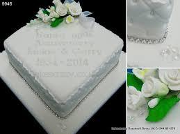 diamond shaped 60th diamond wedding anniversary cake with simple