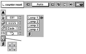 reset l timer panasonic projector christie lu77 projector l