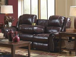 Power Leather Recliner Sofa Leather Reclining Sofa With Drop Table By Catnapper 4505