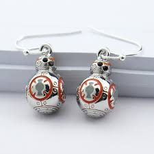 wars earrings wars the awakens 3d bb 8 bb8 robot silver earrings