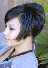 pictures of back of hair short bobs with bangs women short stacked bob hairstyles stock photos hd easy women