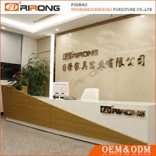 Front Reception Desk Customized White Mdf Front Reception Desk Table Luxury Wooden