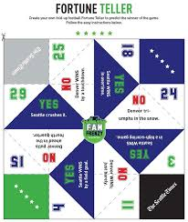 fan frenzy create your own fold up football fortune teller