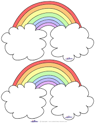 blank printable rainbow cards coolest free printables