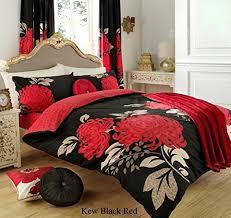 3pc kew black king size bedding bed duvet cover quilt set