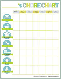 41 best chore charts images on pinterest punch templates and