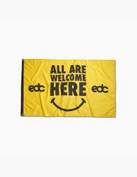 Welcome Flag Edc 2017 All Are Welcome Here Flag U2013 Insomniac Shop