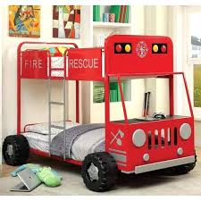 Race Car Bunk Beds Race Car Bunk Beds Furniture Of Rescue Team Truck Metal