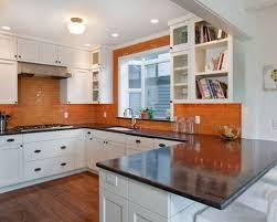 orange and white kitchen ideas orange kitchen backsplash ideas houzz