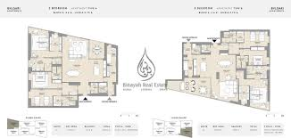 residence 3 bedroom apartment type a and b floor plan