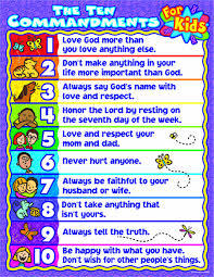 the ten commandments for kids chart amazon co uk linda standke