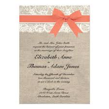 coral wedding invitations personalized coral wedding invitations custominvitations4u