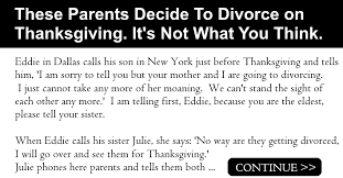 these parents decide to divorce on thanksgiving it s not what