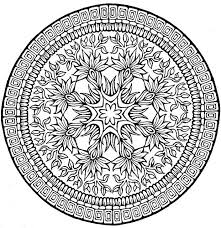 complex mandala coloring pages printable coloring kids complex