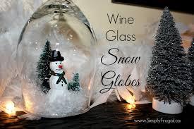 wine glass snow globes diy wine glass snow globes