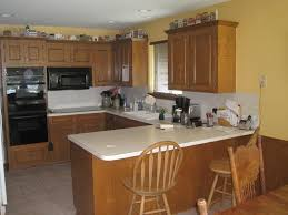 butcher block countertops beige tile ceramic flooring artichoke