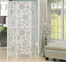 White Room Divider - folding wood partition 4 panel portable room divider wall canvas
