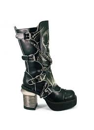 womens motorcycle boots canada skull print womens biker boots with chains by hades boots