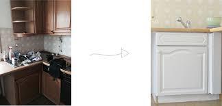 k che bekleben vorher nachher alte küche weiß streichen
