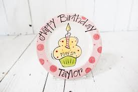 personalized birthday plate personalized birthday plate cupcake birthday plate birthdays