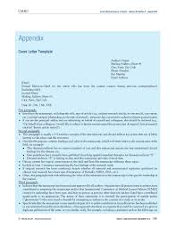 Journal Submission Cover Letter Mpip Author U0027s Submission Toolkit
