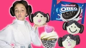 how to make star wars oreo cookie princess leia kissy cupcakes