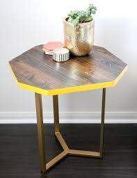 diy wood gold geometric accent table tutorial best friends for