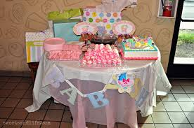 sweets and life we had a baby shower