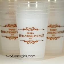 thanksgiving cups personalized thanksgiving party cups