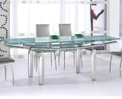 Glass And Chrome Dining Table Dining Room Cool Ideas Of Glass Top Dining Table Kropyok Home