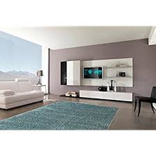Teal Living Room Rug Amazon Com Safavieh Milan Shag Collection Sg180 6060 Aqua Blue