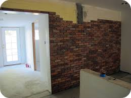 kitchen makeover how to lay a brick wall dream book design