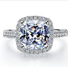 engagement ring sale aliexpress buy sale popular 2 carat brilliant cushion