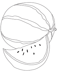 simple watermelon fruit coloring pages fruits coloring pages of