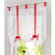 Kitchen Embroidery Designs Roman Curtain New Design Floral Embroidered Sheer Window Curtain