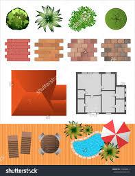 detailed landscape design elements make your own plan top view