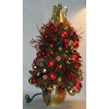 Pre Decorated Christmas Trees Royal Blue And Gold Predecorated Prelit Miniature Christmas Tree